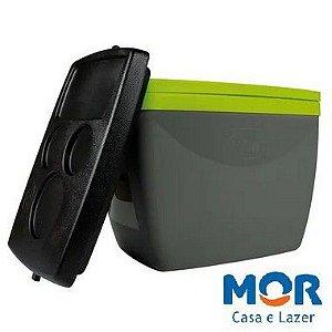 Caixa Térmica 6 Litros Cinza com Verde - MOR