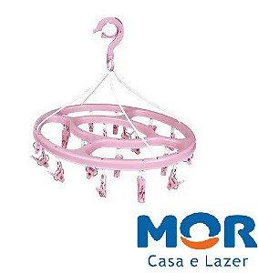 Mini Varal Oval 24 Prendedores Azul - MOR