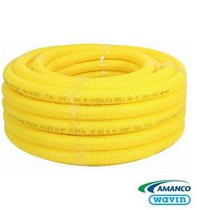 """Eletroduto Flexível 1"""" Amarelo - AMANCO"""