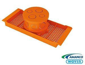 Caixa de Luz Octogonal 4 x 4 com Suporte para Laje - AMANCO