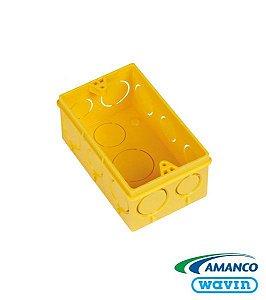 Caixa Embutir 4 x 2 Amarela - AMANCO