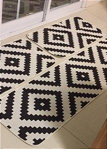 DUPLICADO - Jogo de tapete de cozinha antiderrapante zafira marrom