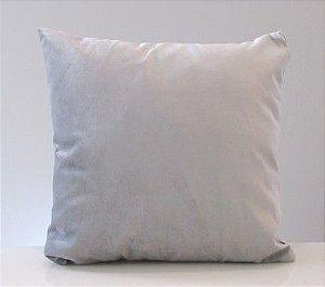 Capa para almofada suede - cinza prata