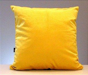 Capa para almofada suede - ouro