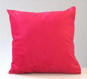 Capa para almofada suede - vermelho