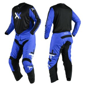 Conjunto Motocross Trilha Cross Atomic Mattos Azul Preto