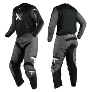Conjunto Motocross Cross Trilha Cinza Atomic Mattos Cinza