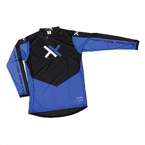 Camisa Motocross Cross Trilha Cinza Atomic Mattos Azul
