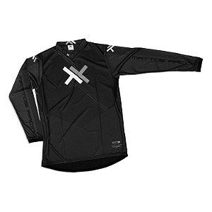 Camisa Motocross Cross Trilha Cinza Atomic Mattos Preto