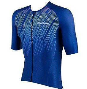 Camisa Ciclismo Masculino Ciclopp Trace Azul