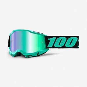 Óculos Cross Motocross 100% Accuri 2 Tokyo Azul Preto