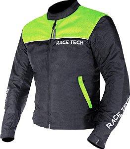 Jaqueta Impermeavel Race Tech Fast Man Inverno Preto Amarelo