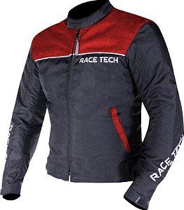 Jaqueta Impermeavel Race Tech Fast Inverno Preto Vermelho