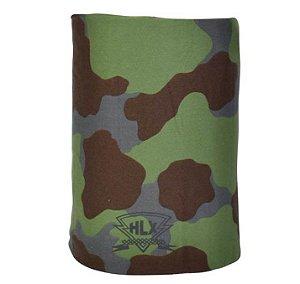 Bandana Caveira Tubo Flex HLX Listrada Camuflada Verde