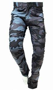 Calça Camuflada Masculina Com Proteção Defender Hlx Cinza