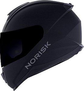 Capacete Norisk Razor Monocolor Preto Fosco