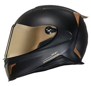 Capacete Nexx XR2 Carbon Gold Edition Carbono Preto Dourado
