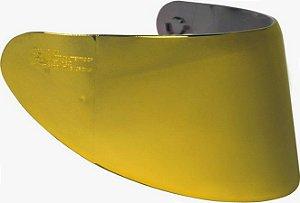 Viseira Capacete Axxis V18B Dourada Espelhada 2mm Original