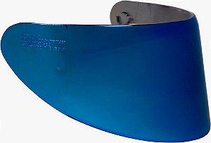 Viseira Capacete Axxis V18B Azul Espelhada 2mm Original