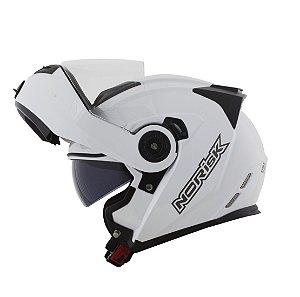 Capacete Robocop Norisk Ff345 Route Monocolor Branco