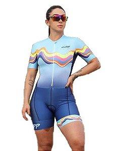 Macaquinho Ciclismo Feminino STROKE Ciclopp Bike Azul MGC