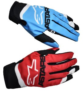 Luva Alpinestars Radar 22 Vermelho Azul Cross Motocross