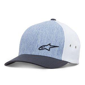 Boné Alpinestars Molded Flexfit - Azul Escuro/Jeans/Cinza gelo