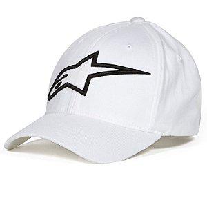 Boné Alpinestars Logo Astar Flexfit - Branco/Preto