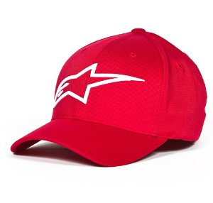 Boné Alpinestars Logo Astar Red White Original Flex Fit