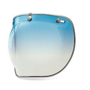 Viseira Bolha Bubble Deluxe Bell Bule Azul