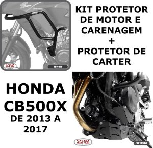 Kit Protetor Motor Carenagem + Carter CB500X