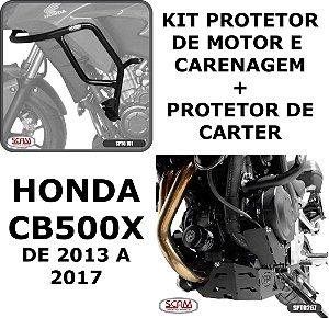 Kit Protetor Motor Carenagem + Carter CB500X