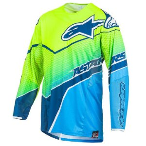 Camisa Motocross Alpinestars Techstar Venon 17 Ama Azul