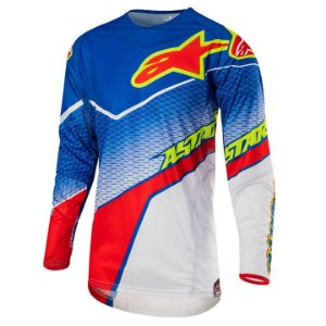 Camisa Motocross Alpinestars Techstar Venon 17 Azul Verm