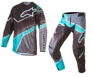 Conjunto Motocross Alpinestars TECHSTAR Venon 17 Cinza