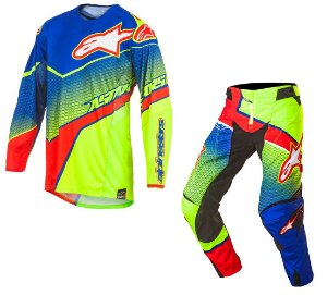 Conjunto Motocross Alpinestars Techstar Venon 17 Azul Ver Am
