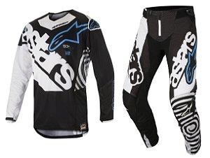 Conjunto Cross Motocross Alpinestars Techstar Venon 18 Preto