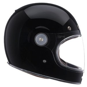 Capacete Bell Bullitt Solid Black Old School Cafe Racer