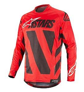 Camisa Cross Motocross Alpinestars Racer Braap 2019 Vermelho