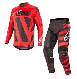 Conjunto Motocross Alpinestars Racer Braap 2019 Vermelho