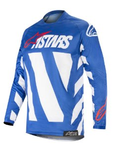 Camisa Cross Motocross Alpinestars Racer Braap 2019 Azul