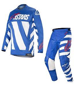 Conjunto Cross Motocross Alpinestars Racer Braap 2019 Azul