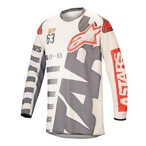 Camisa Motocross Alpinestars Racer Braap 18 Areia Vermelho