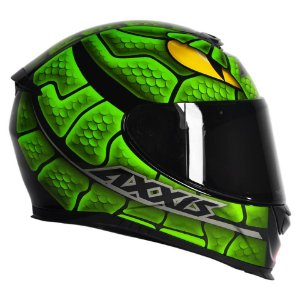 Capacete Axxis Eagle Snake Verde Cobra MT