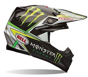 Capacete Bell Moto 9 Flex Pro Circuit Monster Fibra Carbono