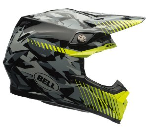 Capacete Bell Motocross Moto 9 Camo Yellow Tricomposto Cross
