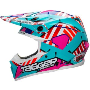 Capacete Bell Motocross Moto 9 Tagger Trouble Tricomposto