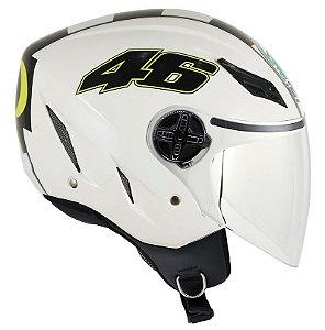 Capacete Agv Blade Celebr 8 Valentino Rossi Vr46 - Branco