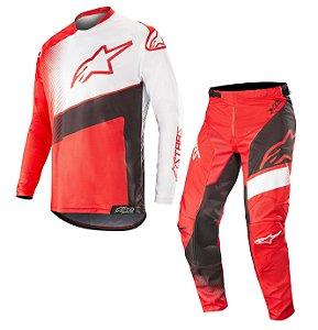 Conjunto Cross Alpinestars Racer Supermatic 2019 Vermelho