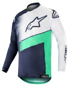 Camisa Cross Alpinestars Racer Supermatic 2019 Azul Verde
